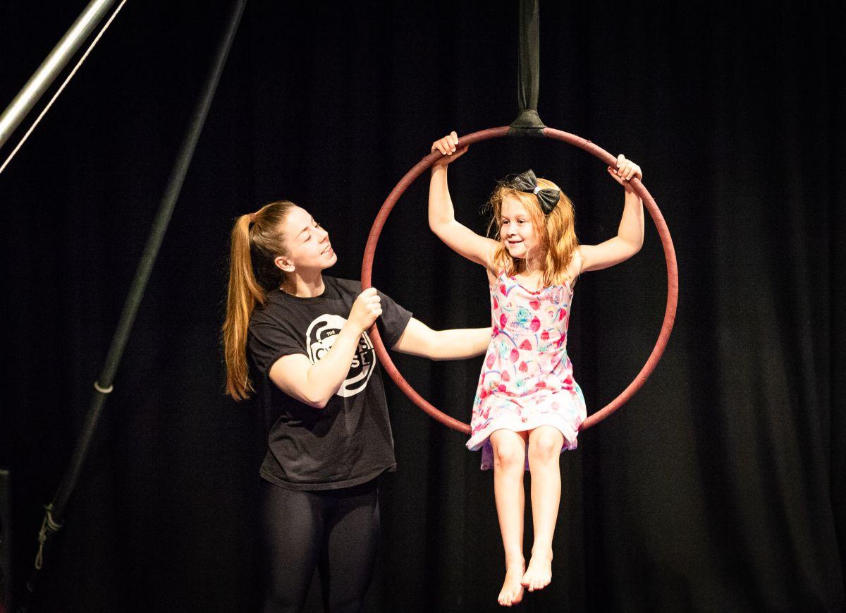 Young girl at Circus Workshop as part of The Full Shebang 2019