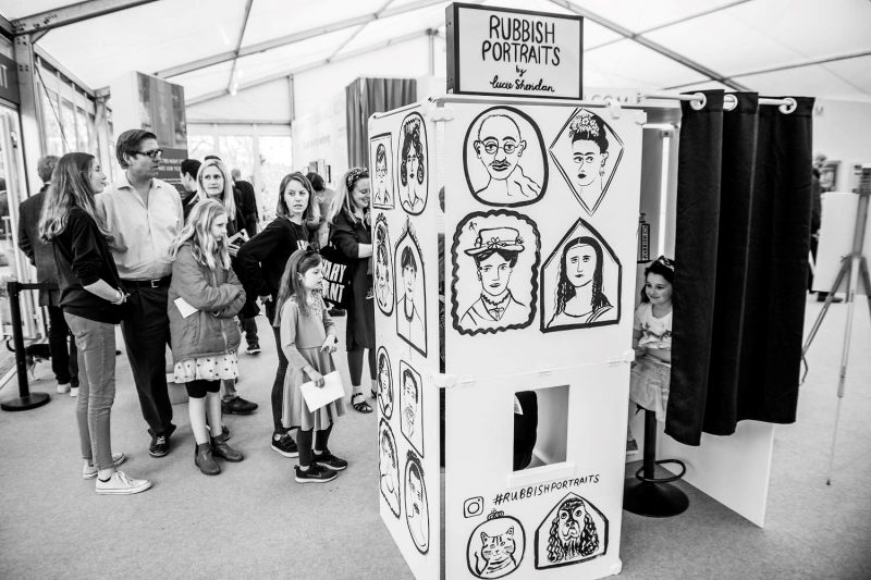 Lucie Sheridan Rubbish Portraits Photo Booth