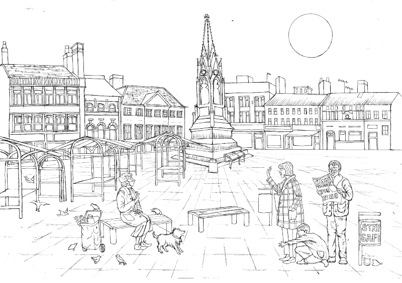 Illustration by Seanna Doonan for the Go the Distance Colouring Book