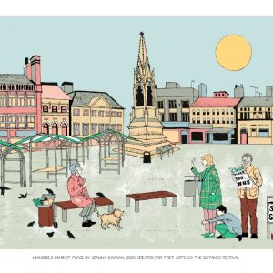 Art print of Mansfield Market Place by Seanna Doonan for First Art