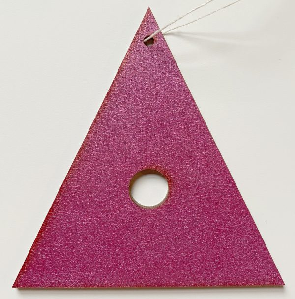 Pink painted plywood decoration