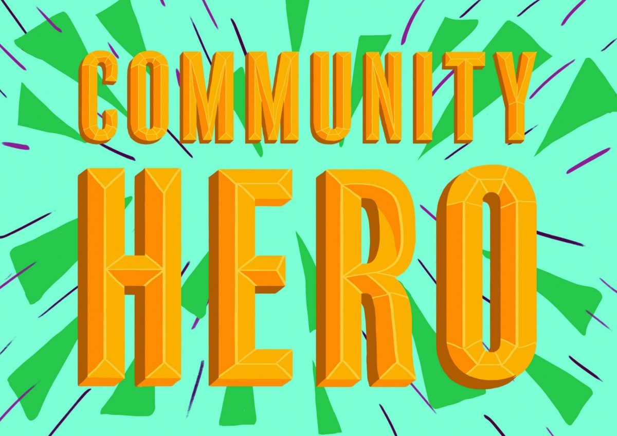 Community Hero placard by Molly Saunders for First Art Shine A Light Portait
