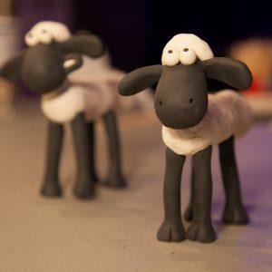Shaun the Sheep models from Aardman Animations model making workshop